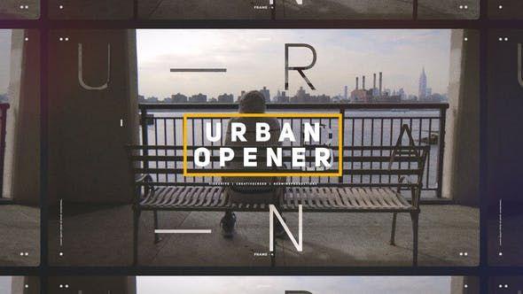 Effect Premiere Pro Urban Media Opener Slideshow by ABCfootage